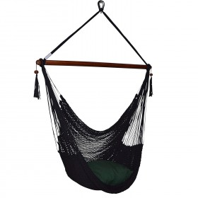 CARIBBEAN HAMMOCKS CHAIR LARGE (Black) - By the caribbean hammocks store of USA