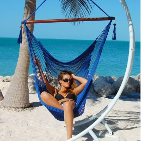 CARIBBEAN HAMMOCKS CHAIR LARGE (Blue) - By the caribbean hammocks store of USA