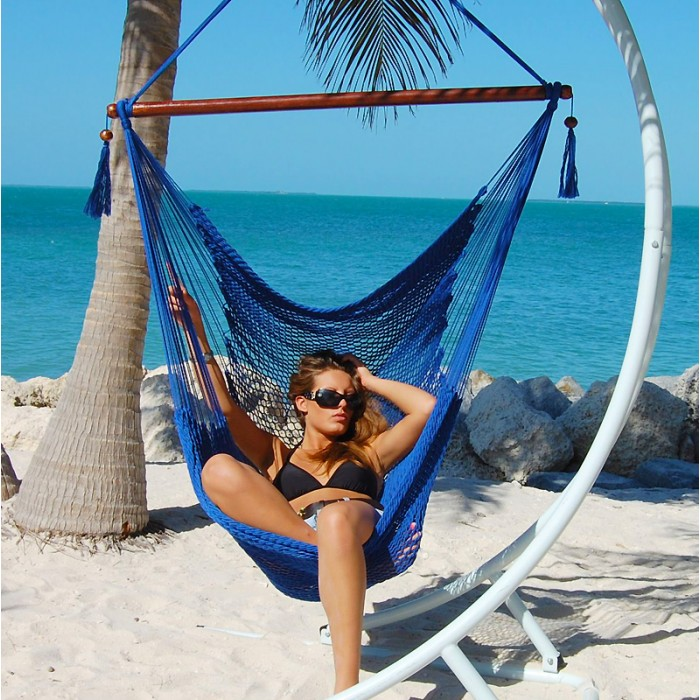caribbean hammocks chair large  blue    by the caribbean hammocks store of usa caribbean hammocks store of usa  rh   hammock usa