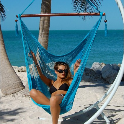 CARIBBEAN HAMMOCKS CHAIR LARGE (Light Blue) - By the caribbean hammocks store of USA