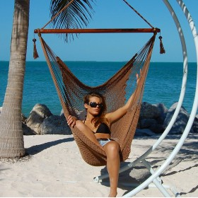 CARIBBEAN HAMMOCKS CHAIR LARGE (Mocha) - By the caribbean hammocks store of USA