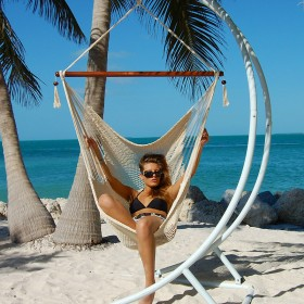 CARIBBEAN HAMMOCKS CHAIR LARGE (Cream) - By the caribbean hammocks store of USA