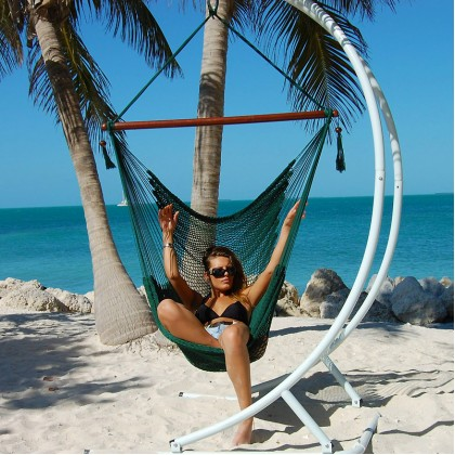 CARIBBEAN HAMMOCKS CHAIR LARGE (Green) - By the caribbean hammocks store of USA