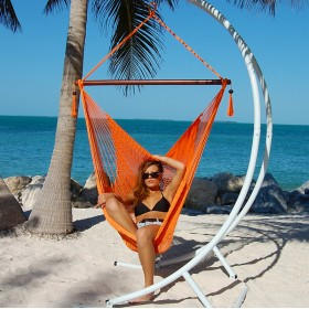 CARIBBEAN HAMMOCKS CHAIR LARGE (Orange) - By the caribbean hammocks store of USA