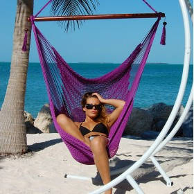 CARIBBEAN HAMMOCKS CHAIR LARGE (Purple) - By the caribbean hammocks store of USA
