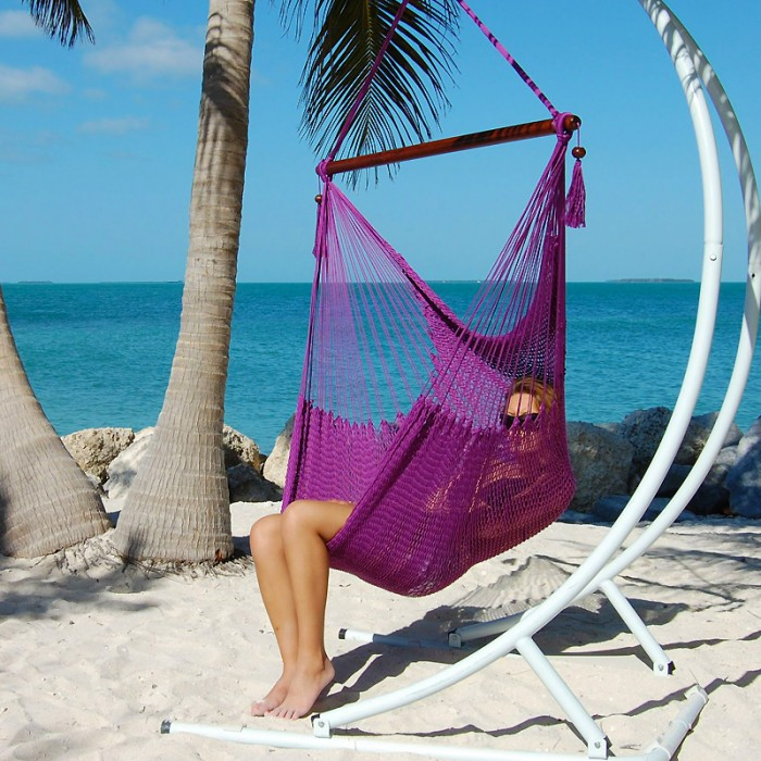 CARIBBEAN HAMMOCKS CHAIR LARGE (Purple)   By The Caribbean Hammocks Store  Of USA