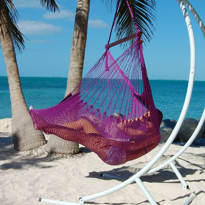 Incroyable CARIBBEAN HAMMOCKS CHAIR LARGE (Purple)   By The Caribbean Hammocks Store  Of USA