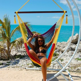CARIBBEAN HAMMOCKS CHAIR LARGE (Rainbow) - By the caribbean hammocks store of USA