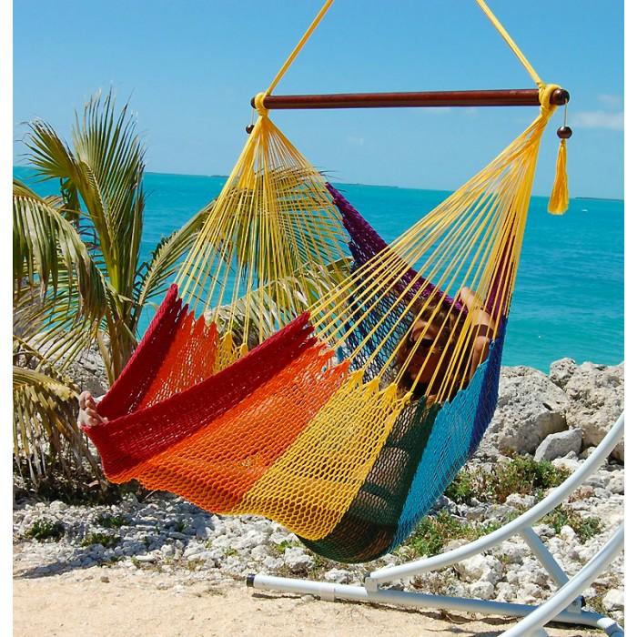 caribbean hammocks chair large  rainbow    by the caribbean hammocks store of usa hammocks chair large  rainbow    by the caribbean hammocks store      rh   hammock usa