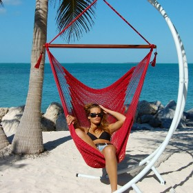 CARIBBEAN HAMMOCKS CHAIR LARGE (Red) - By the caribbean hammocks store of USA