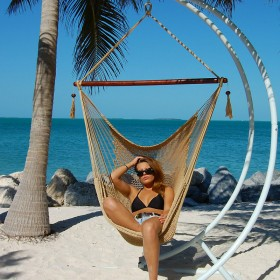 CARIBBEAN HAMMOCKS CHAIR LARGE (Tan) - By the caribbean hammocks store of USA