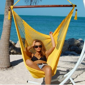 CARIBBEAN HAMMOCKS CHAIR LARGE (Yellow) - By the caribbean hammocks store of USA