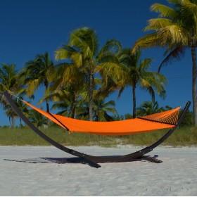 CARIBBEAN HAMMOCKS DOUBLE (Orange) - By the caribbean hammocks store of USA
