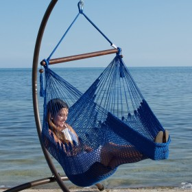 CARIBBEAN HAMMOCKS CHAIR BASIC (Blue) - By the caribbean hammocks store of USA