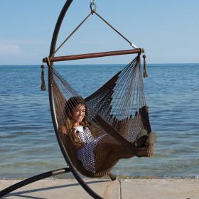 CARIBBEAN HAMMOCKS CHAIR BASIC (Mocha) - By the caribbean hammocks store of USA