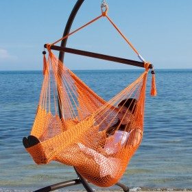 CARIBBEAN HAMMOCKS CHAIR BASIC (Orange) - By the caribbean hammocks store of USA