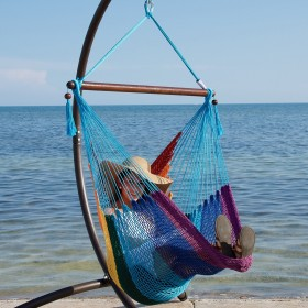 CARIBBEAN HAMMOCKS CHAIR BASIC (Rainbow) - By the caribbean hammocks store of USA