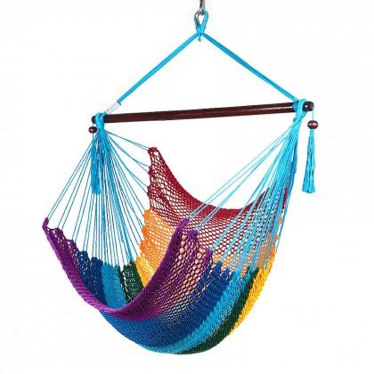 CARIBBEAN HAMMOCKS CHAIR REGULAR (Rainbow) - By the caribbean hammocks store of USA