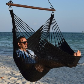 CARIBBEAN HAMMOCKS CHAIR JUMBO (Black) - By the caribbean hammocks store of USA