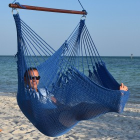 CARIBBEAN HAMMOCKS CHAIR JUMBO (Blue) - By the caribbean hammocks store of USA