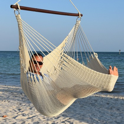 CARIBBEAN HAMMOCKS CHAIR JUMBO (Cream) - By the caribbean hammocks store of USA