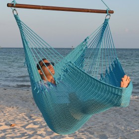 CARIBBEAN HAMMOCKS CHAIR JUMBO (Light-Blue) - By the caribbean hammocks store of USA