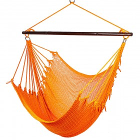 CARIBBEAN HAMMOCKS CHAIR JUMBO (Orange) - By the caribbean hammocks store of USA