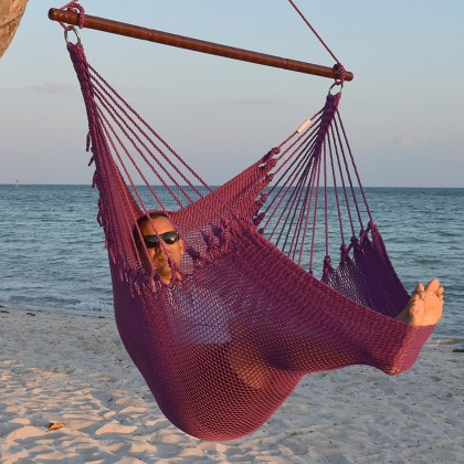 CARIBBEAN HAMMOCKS CHAIR JUMBO (Purple) - By the caribbean hammocks store of USA