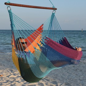 CARIBBEAN HAMMOCKS CHAIR JUMBO (Rainbow) - By the caribbean hammocks store of USA