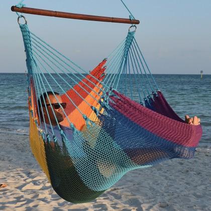 CARIBBEAN HAMMOCKS CHAIR JUMBO (Rainbow) - By the caribbean hammocks store of USA