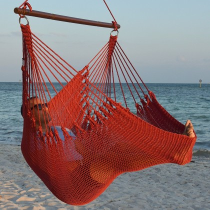 CARIBBEAN HAMMOCKS CHAIR JUMBO (Red) - By the caribbean hammocks store of USA