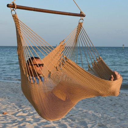 CARIBBEAN HAMMOCKS CHAIR JUMBO (Tan) - By the caribbean hammocks store of USA