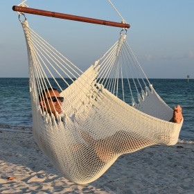 CARIBBEAN HAMMOCKS CHAIR JUMBO (White) - By the caribbean hammocks store of USA