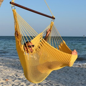 CARIBBEAN HAMMOCKS CHAIR JUMBO (Yellow) - By the caribbean hammocks store of USA