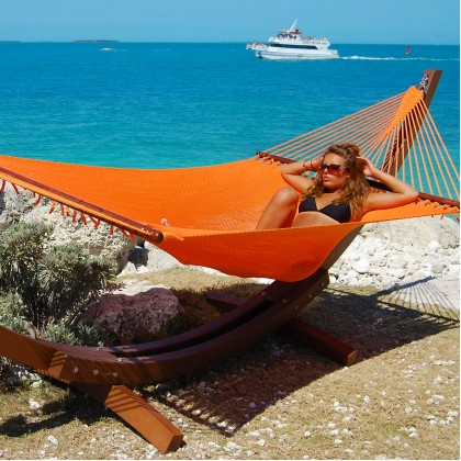 CARIBBEAN HAMMOCKS JUMBO (Orange) - By the caribbean hammocks store of USA
