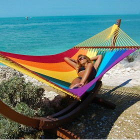 CARIBBEAN HAMMOCKS JUMBO (Rainbow) - By the caribbean hammocks store of USA