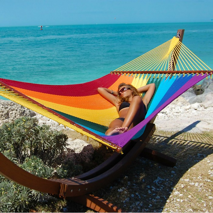 matrimonial hammock in hangmatten mexican double made mexico rainbow color