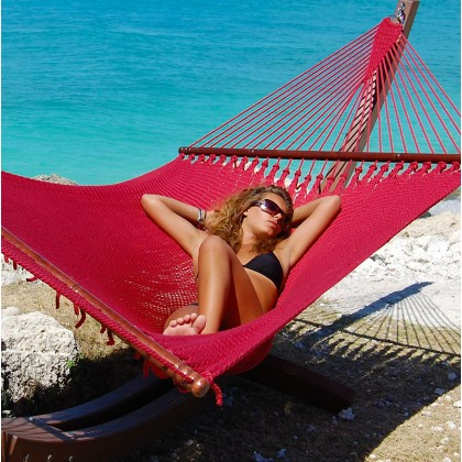 CARIBBEAN HAMMOCKS JUMBO (Red) - By the caribbean hammocks store of USA
