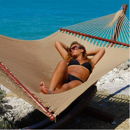 CARIBBEAN HAMMOCKS JUMBO (Tan) - By the caribbean hammocks store of USA