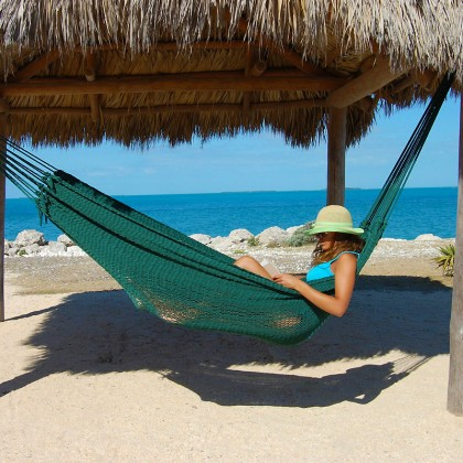 MAYAN CARIBBEAN HAMMOCK (Green) - By the caribbean hammocks store of USA
