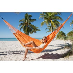 MAYAN CARIBBEAN HAMMOCK (Orange) - By the caribbean hammocks store of USA