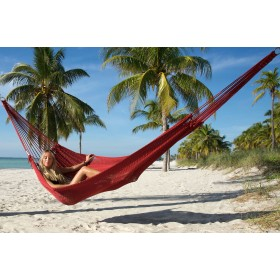 MAYAN CARIBBEAN HAMMOCK (Red) - By the caribbean hammocks store of USA