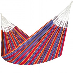 Colombian Hammock Jumbo - Red & Blue Stripe