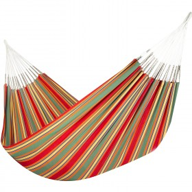 Colombian Hammock Jumbo - Red & Green Stripe