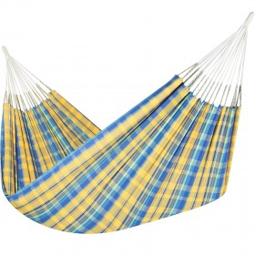 Colombian Hammock Jumbo - Yellow & Blue Plaid