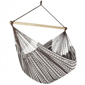 Colombian Hammock Chair Lounger - Cocoa & Natural