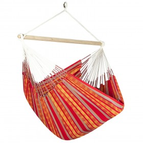 Colombian Hammock Chair Lounger - Red & Orange