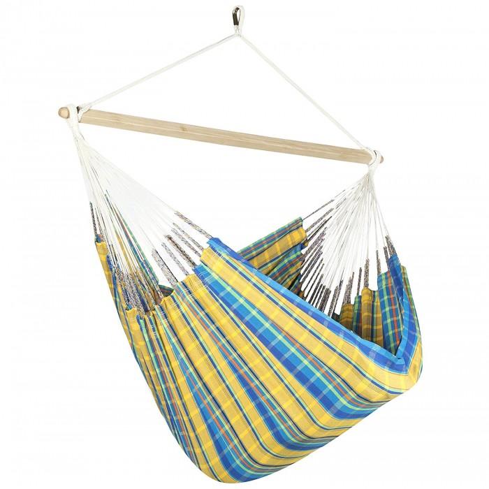 colombian hammock chair lounger   yellow  u0026 blue plaid  rh   hammock usa